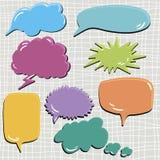 Sistema de gotas del discurso y del pensamiento Imágenes de archivo libres de regalías