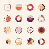 Sistema de gráficos circulares Fotografía de archivo