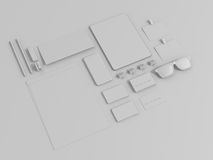 Sistema de Gray Branding Mockup Modelo del asunto Fotos de archivo
