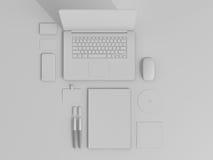 Sistema de Gray Branding Mockup Modelo del asunto Imagenes de archivo