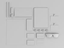 Sistema de Gray Branding Mockup Modelo del asunto Imagen de archivo libre de regalías