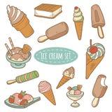 Sistema de helado del vector Fotos de archivo