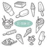 Sistema de helado del vector Fotografía de archivo