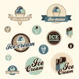 Sistema de helado del vintage Foto de archivo libre de regalías