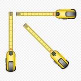 Sistema de herramienta de la cinta métrica stock de ilustración