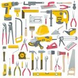 Sistema de herramientas stock de ilustración