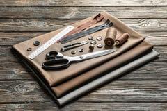 Sistema de herramientas, de accesorios y de tela de la adaptación fotografía de archivo libre de regalías