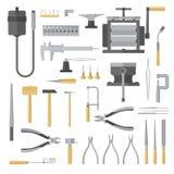 Sistema de herramientas de la joyería Imagen de archivo