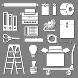 Sistema de herramientas de la oficina Imágenes de archivo libres de regalías