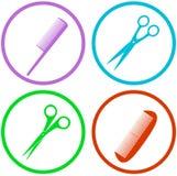 Sistema de herramientas del salón de pelo Imagen de archivo libre de regalías