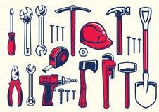 Sistema de herramientas de la mano del trabajador libre illustration