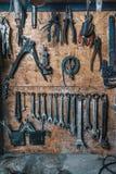 Sistema de herramientas viejas Foto de archivo