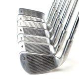 Sistema de hierros del golf Imágenes de archivo libres de regalías