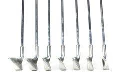 Sistema de hierros del golf encendido Foto de archivo