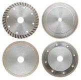 Sistema de hojas de sierra circilar para el trabajo del metal, aisladas Fotografía de archivo