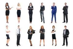 Sistema de hombres de negocios aislados en blanco Foto de archivo libre de regalías