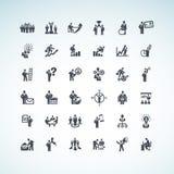 Sistema de hombres de negocios de los iconos del concepto stock de ilustración