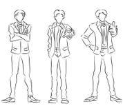 Sistema de hombres de negocios estilizados ilustración del vector
