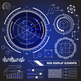 Sistema de HUD Futuristic Technology Display Element Vector Foto de archivo