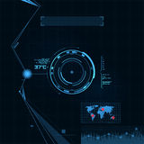 Sistema de HUD y del GUI. Interfaz de usuario futurista. Fotografía de archivo libre de regalías