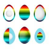 Sistema de huevos abstractos del arco iris libre illustration