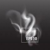 Sistema de humo transparente en un fondo de la tela escocesa Imagen de archivo libre de regalías