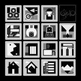 Sistema de iconos Fotos de archivo