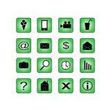 Sistema de iconos Stock de ilustración