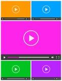 Sistema de 5 iconos abstractos simples de vídeo Fotografía de archivo libre de regalías