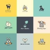 Sistema de iconos animales coloridos libre illustration