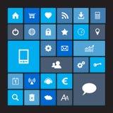 Sistema de iconos azules del metro Imagen de archivo libre de regalías