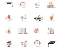 Sistema de iconos bicolores Imagen de archivo libre de regalías
