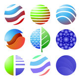 Sistema de iconos coloreados aislados Imagen de archivo