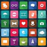 Sistema de iconos cuadrados Imagenes de archivo