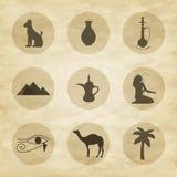 Sistema de iconos de Egipto Imagenes de archivo