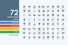Sistema de iconos de la agricultura Fotografía de archivo libre de regalías