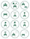Sistema de iconos de la barbacoa Foto de archivo
