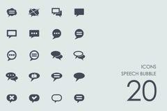 Sistema de iconos de la burbuja del discurso Fotos de archivo
