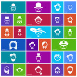 Sistema de 27 iconos de la cara Imagen de archivo libre de regalías