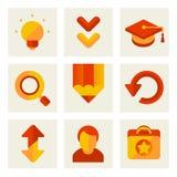 Sistema de iconos de la educación Imagen de archivo libre de regalías
