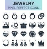 Sistema de iconos de la joyería Fotos de archivo