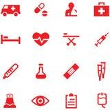 Sistema de iconos de la medicina Fotografía de archivo