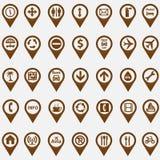 Sistema de iconos de la navegación Imagen de archivo libre de regalías