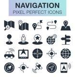 Sistema de iconos de la navegación Foto de archivo