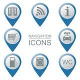 Sistema de iconos de la navegación volumétrico instituciones públicas Fotos de archivo