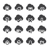 Sistema de iconos de la nube Fotografía de archivo