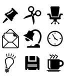 Sistema de iconos de la oficina Fotografía de archivo