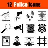Sistema de iconos de la policía Fotografía de archivo