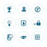 Sistema de iconos de la pureza Fotos de archivo libres de regalías
