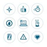 Sistema de iconos de la pureza Fotografía de archivo